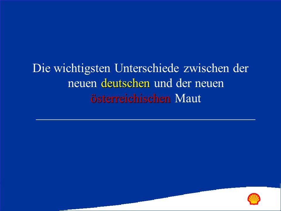 Die wichtigsten Unterschiede zwischen der neuen deutschen und der neuen österreichischen Maut ___________________________________