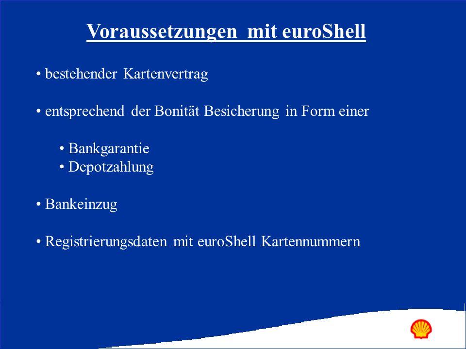 Voraussetzungen mit euroShell