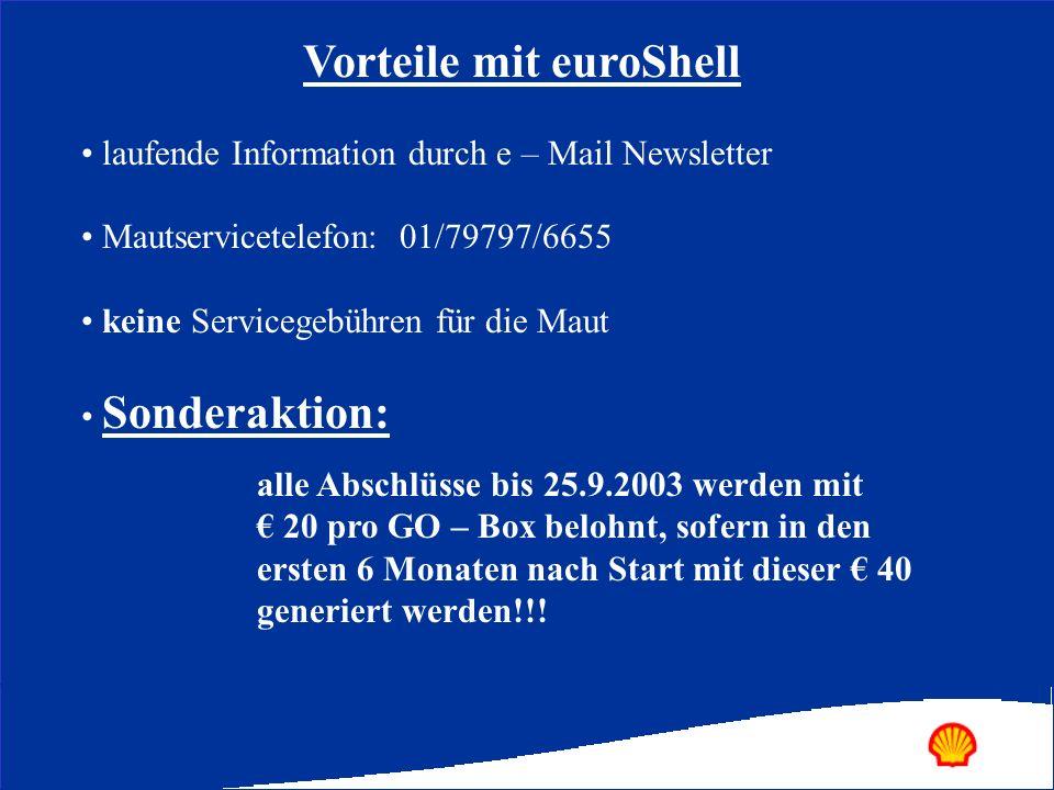 Vorteile mit euroShell