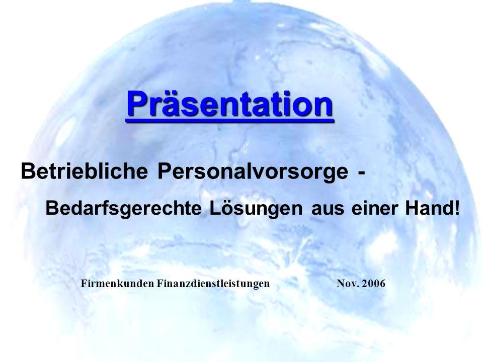 Präsentation Betriebliche Personalvorsorge -