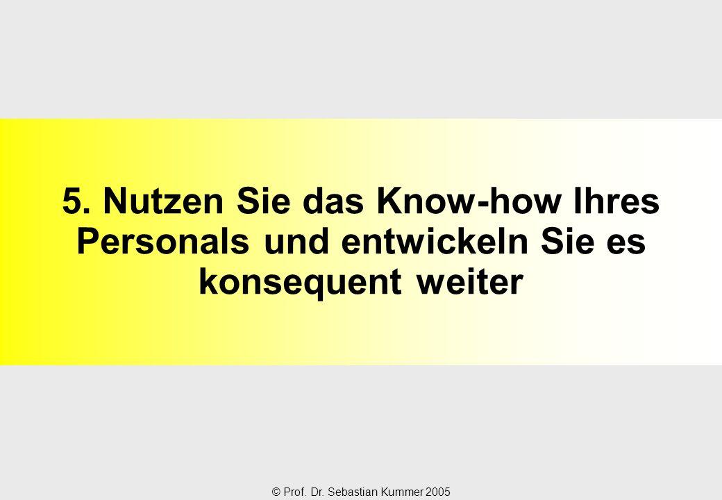 5. Nutzen Sie das Know-how Ihres Personals und entwickeln Sie es konsequent weiter