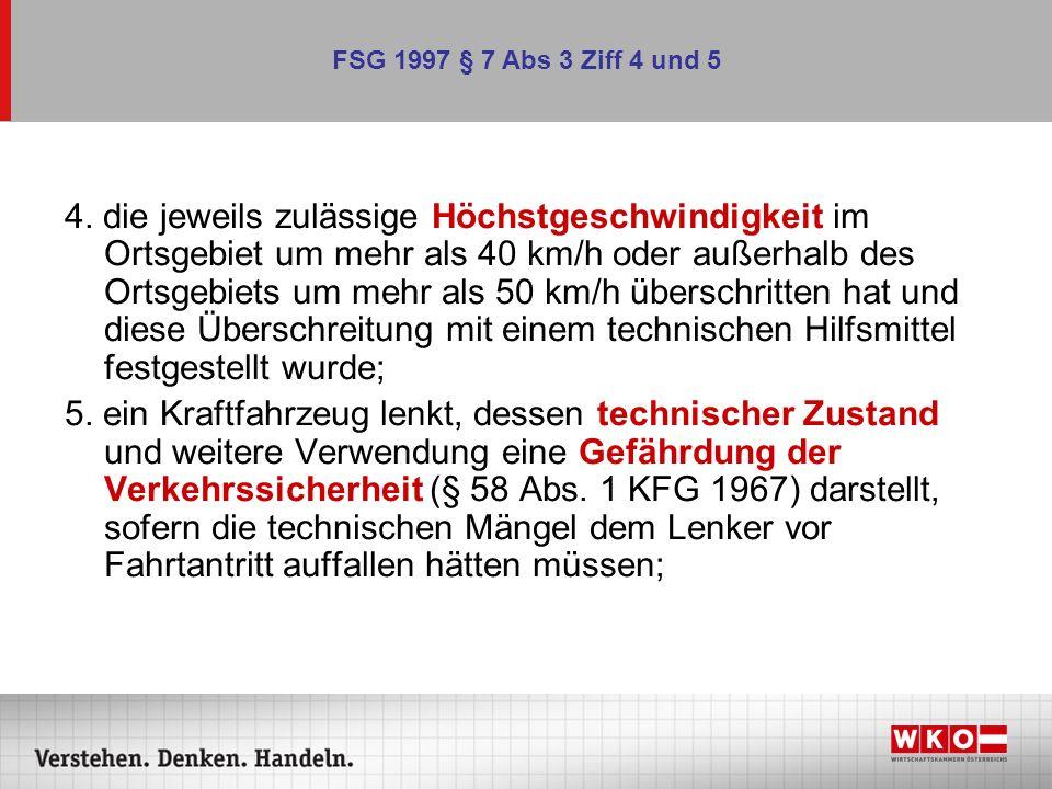 FSG 1997 § 7 Abs 3 Ziff 4 und 5