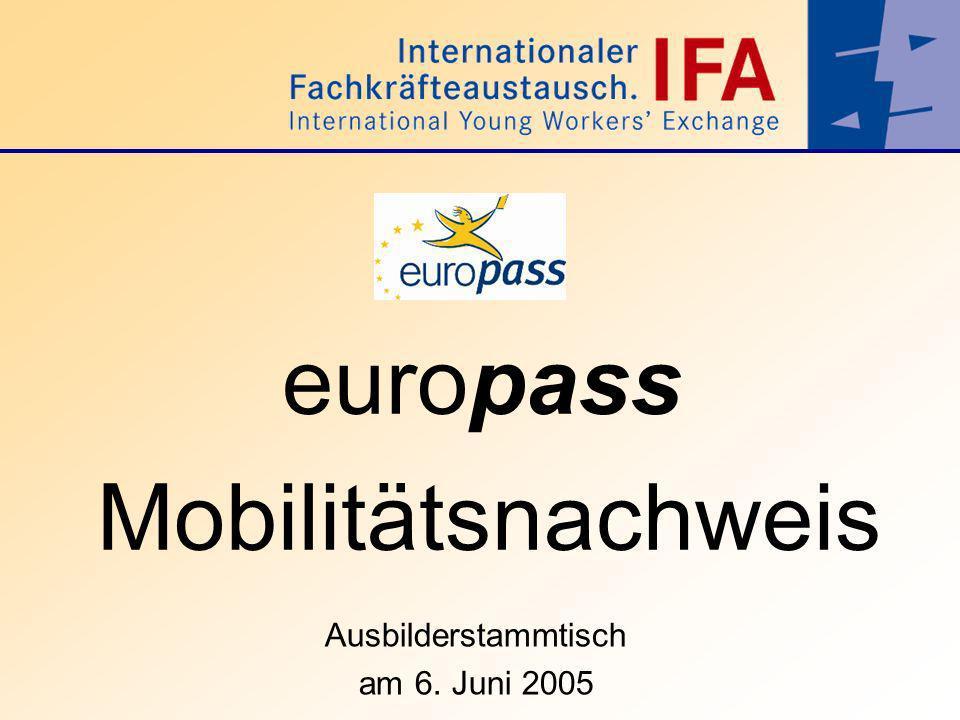 europass Mobilitätsnachweis
