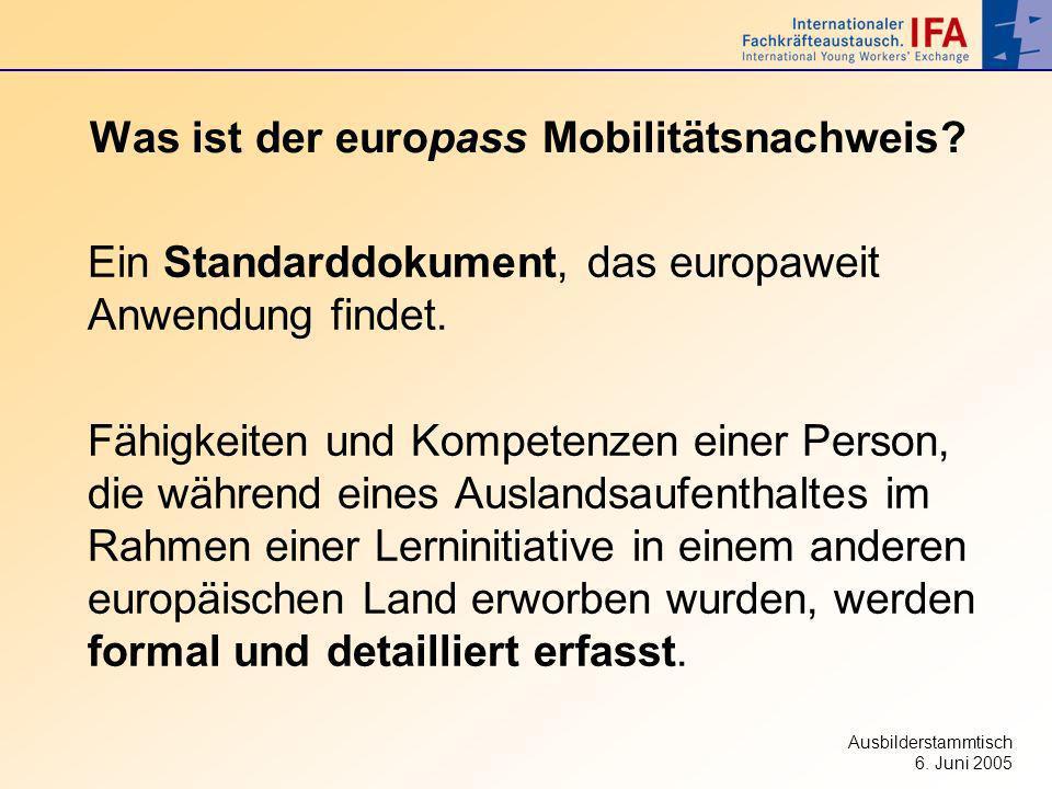 Was ist der europass Mobilitätsnachweis