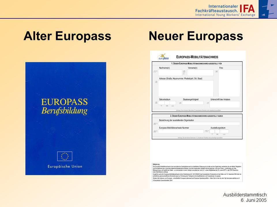 Alter Europass Neuer Europass