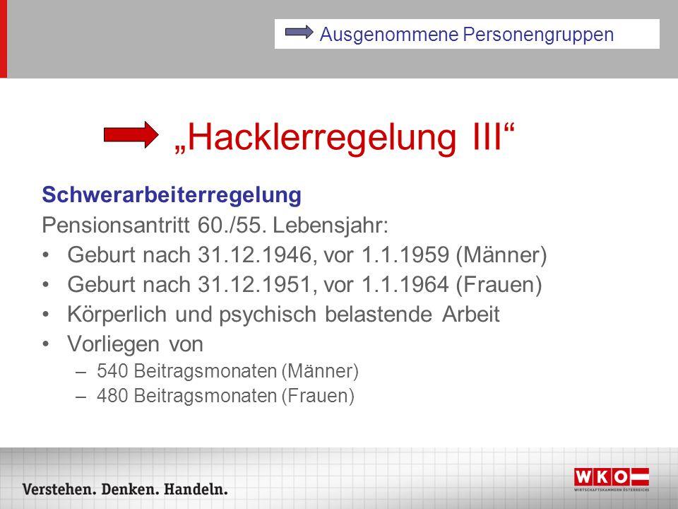 """""""Hacklerregelung III"""