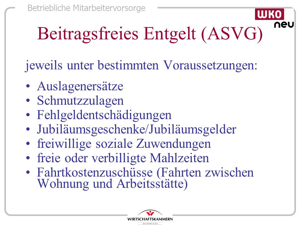 Beitragsfreies Entgelt (ASVG)