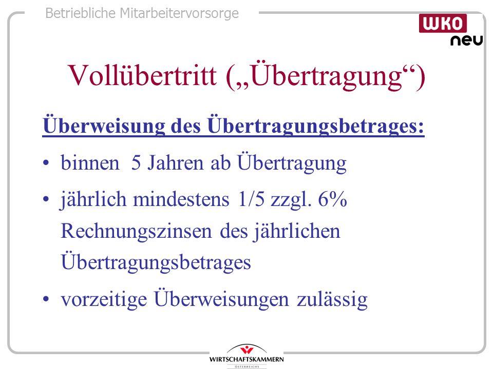 """Vollübertritt (""""Übertragung )"""