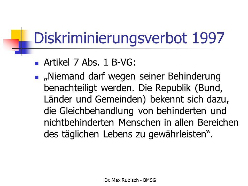Diskriminierungsverbot 1997