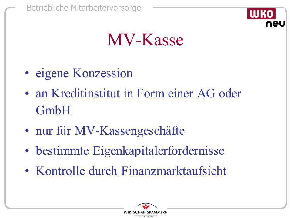 MV-Kasse eigene Konzession