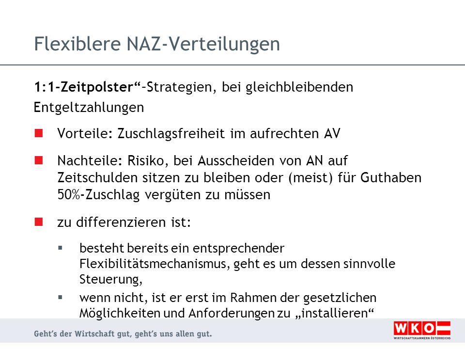Flexiblere NAZ-Verteilungen