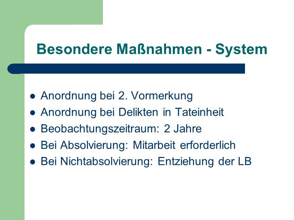Besondere Maßnahmen - System
