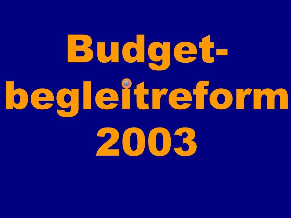 Budget-begleitreform 2003