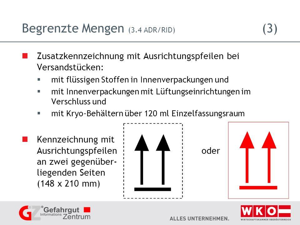 Begrenzte Mengen (3.4 ADR/RID) (3)