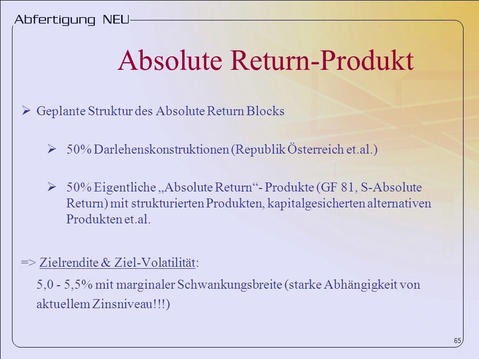 Absolute Return-Produkt