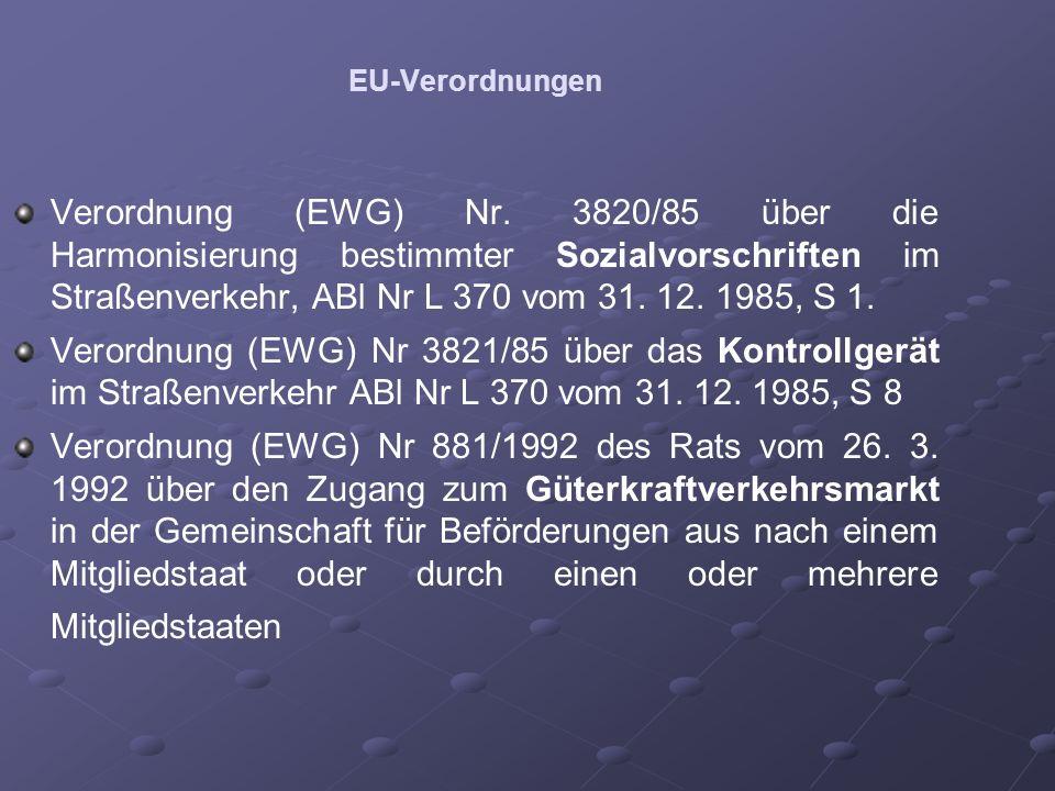 EU-Verordnungen