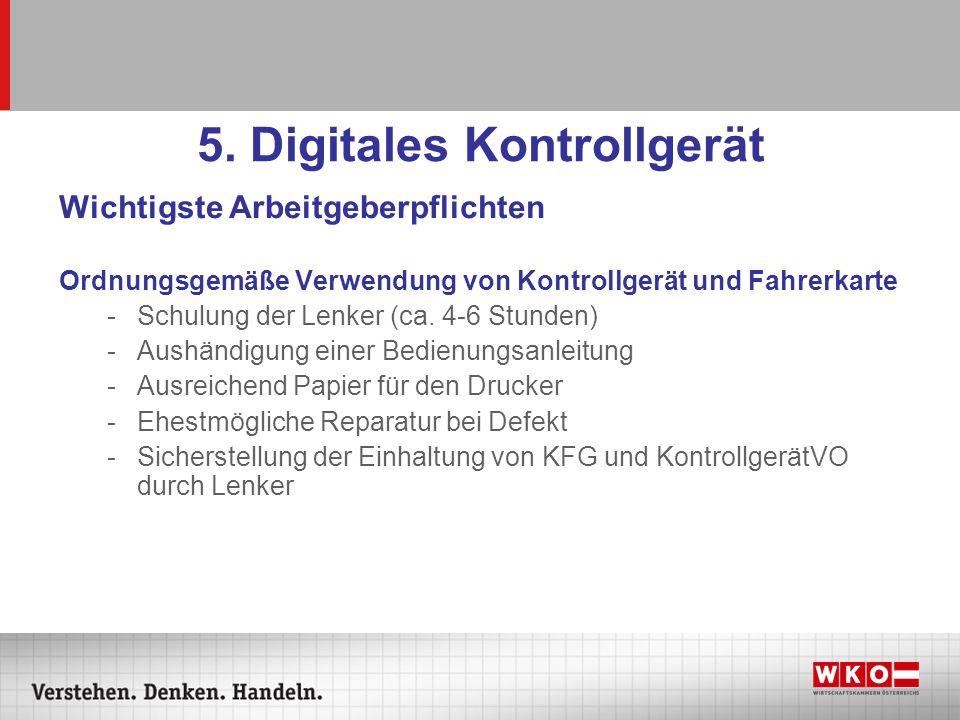 5. Digitales Kontrollgerät