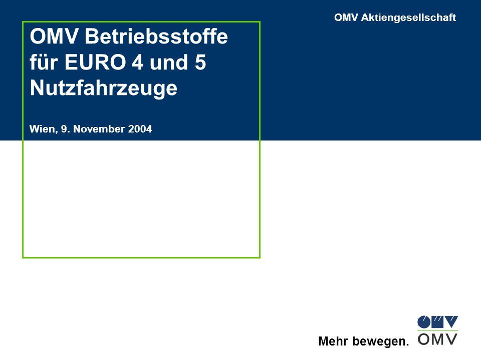 OMV Betriebsstoffe für EURO 4 und 5 Nutzfahrzeuge