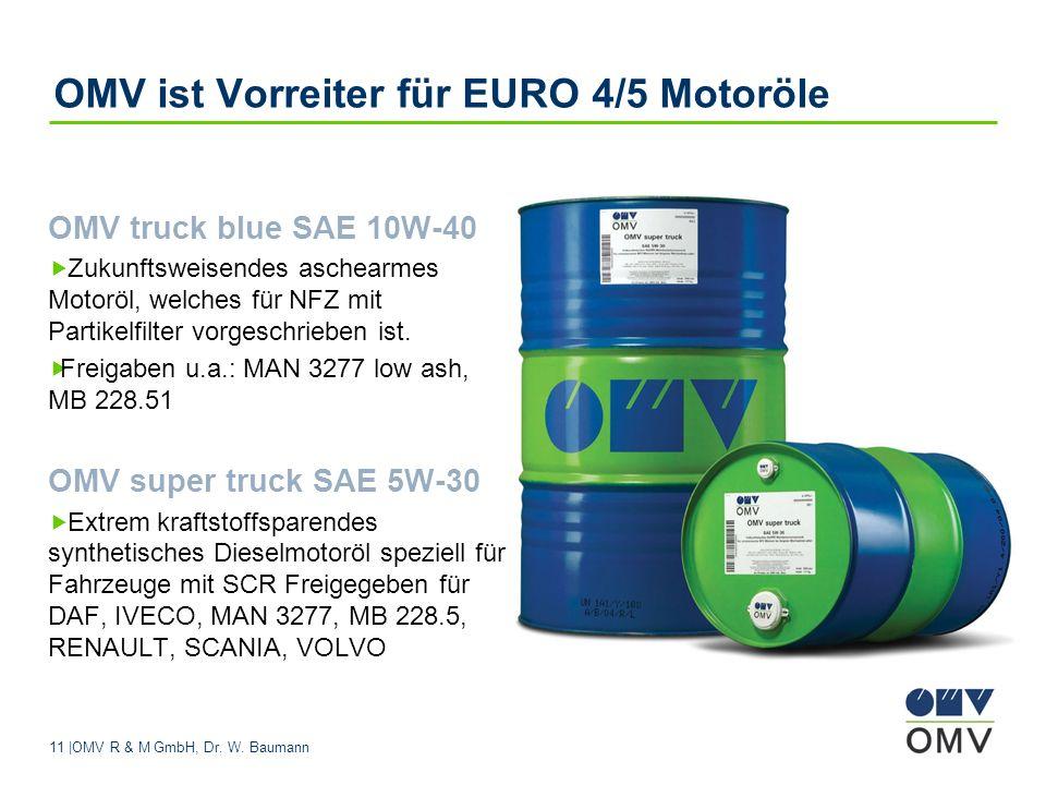 OMV ist Vorreiter für EURO 4/5 Motoröle