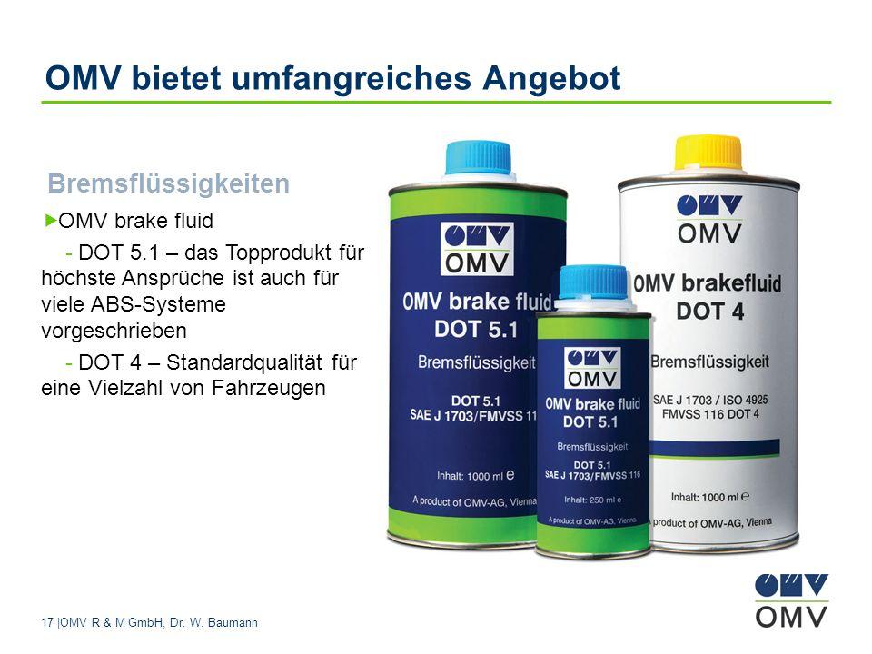 OMV bietet umfangreiches Angebot