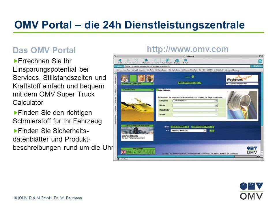 OMV Portal – die 24h Dienstleistungszentrale