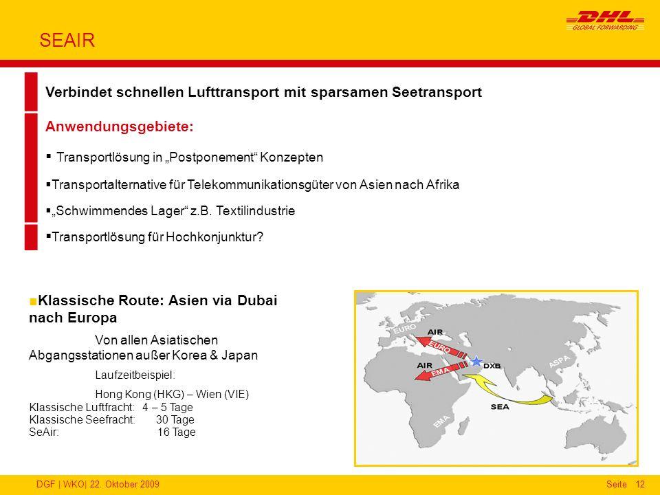 SEAIR Verbindet schnellen Lufttransport mit sparsamen Seetransport