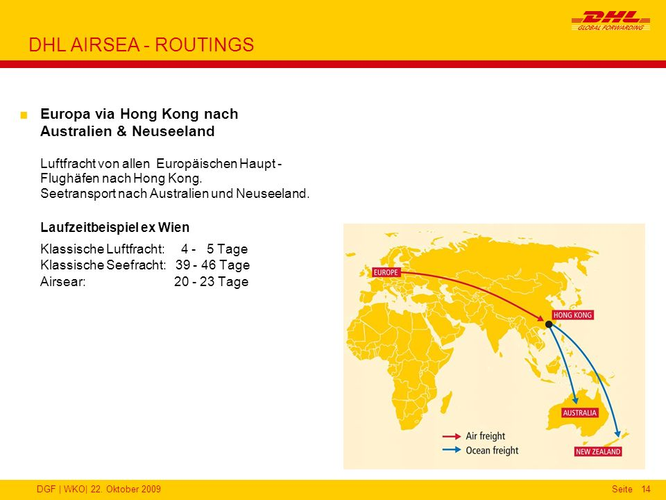 DHL AIRSEA - ROUTINGS
