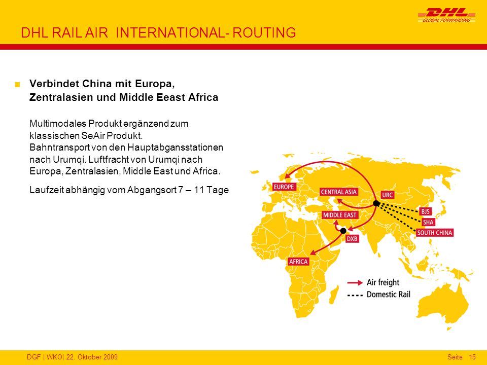 DHL RAIL AIR INTERNATIONAL- ROUTING