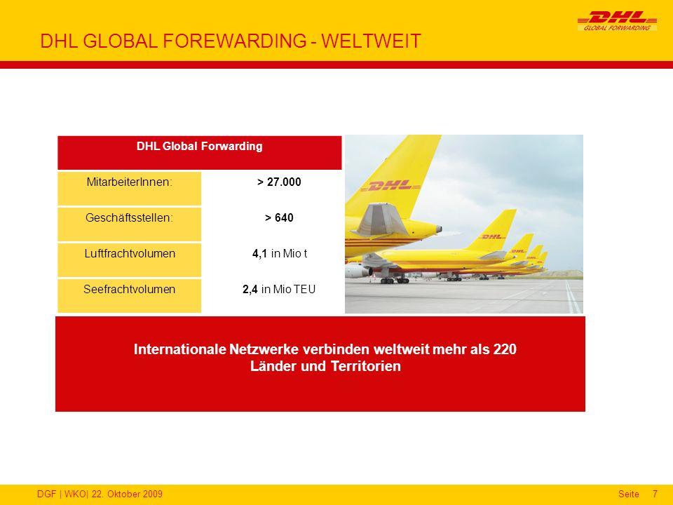 DHL GLOBAL FOREWARDING - WELTWEIT