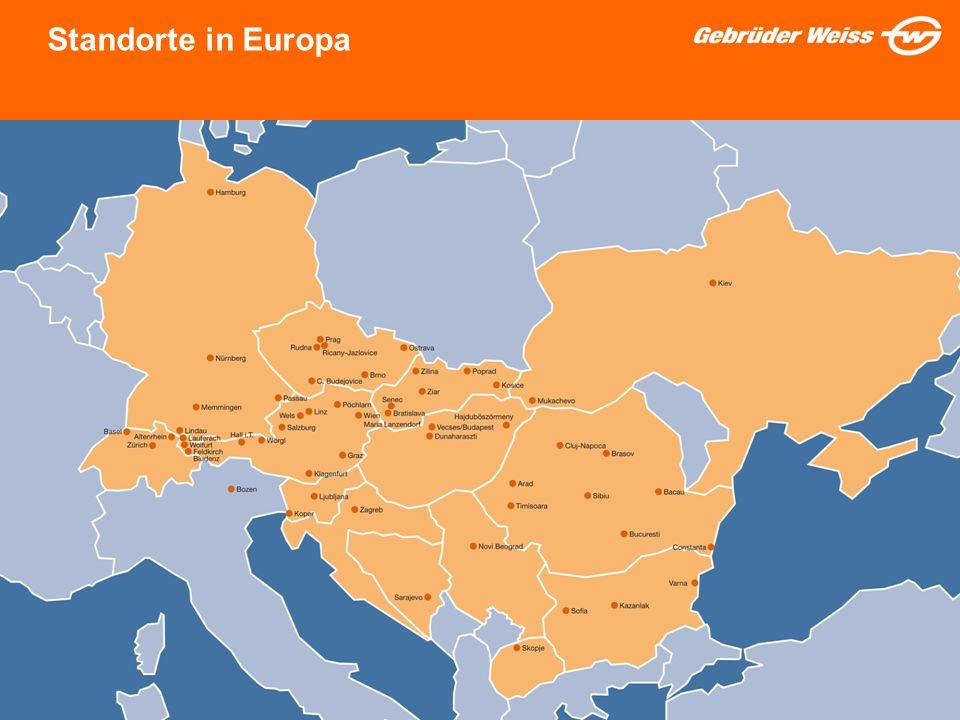Standorte in Europa