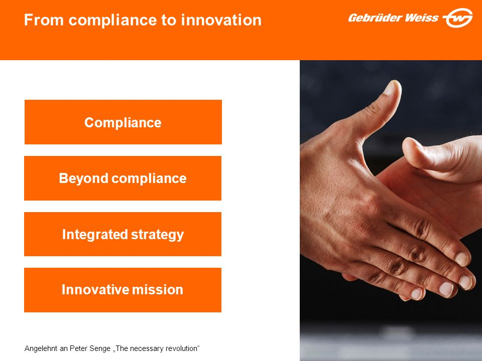 From compliance to innovation