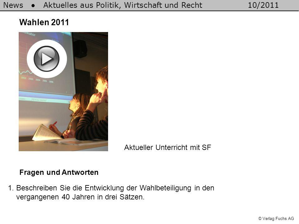 Wahlen 2011 Aktueller Unterricht mit SF Fragen und Antworten