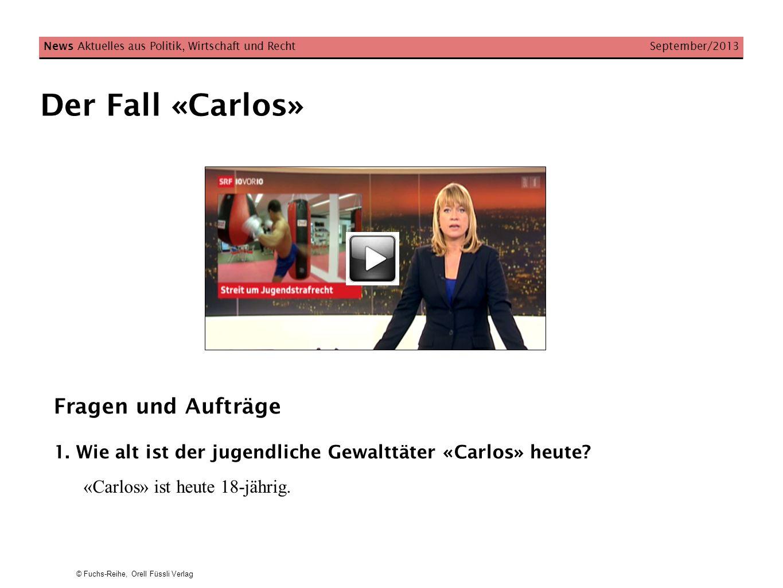 Der Fall «Carlos» Fragen und Aufträge