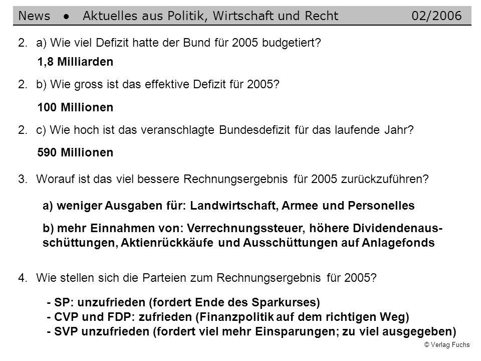 News ● Aktuelles aus Politik, Wirtschaft und Recht 02/2006