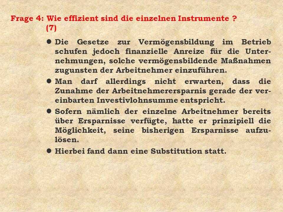 Frage 4: Wie effizient sind die einzelnen Instrumente (7)