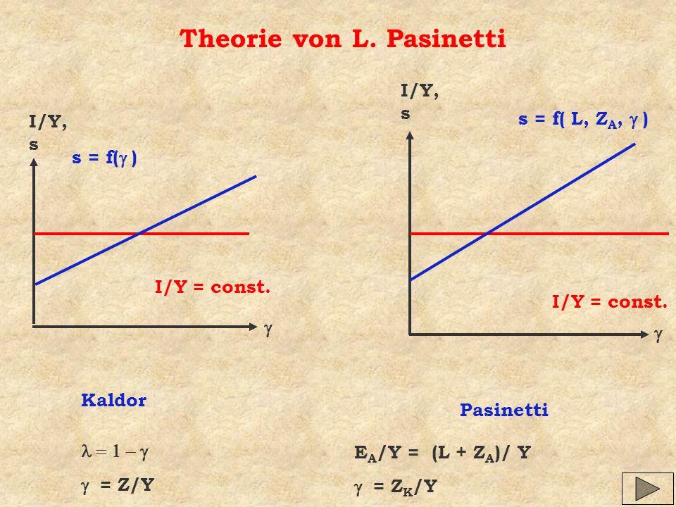 Theorie von L. Pasinetti