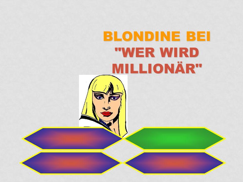 Blondine bei Wer wird Millionär