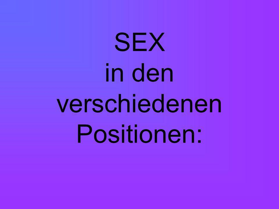 SEX in den verschiedenen Positionen: