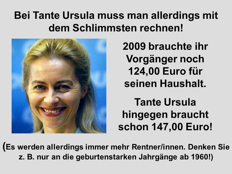 Bei Tante Ursula muss man allerdings mit dem Schlimmsten rechnen!