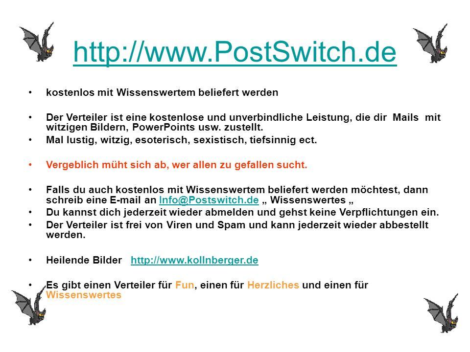 http://www.PostSwitch.de kostenlos mit Wissenswertem beliefert werden