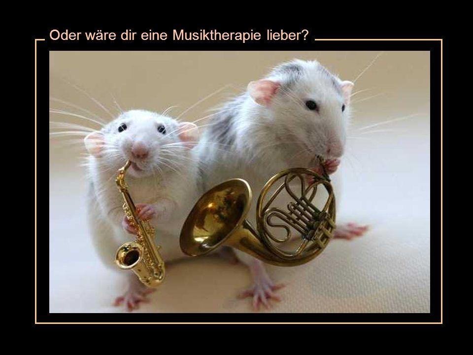 Oder wäre dir eine Musiktherapie lieber