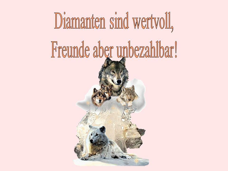 Diamanten sind wertvoll, Freunde aber unbezahlbar!