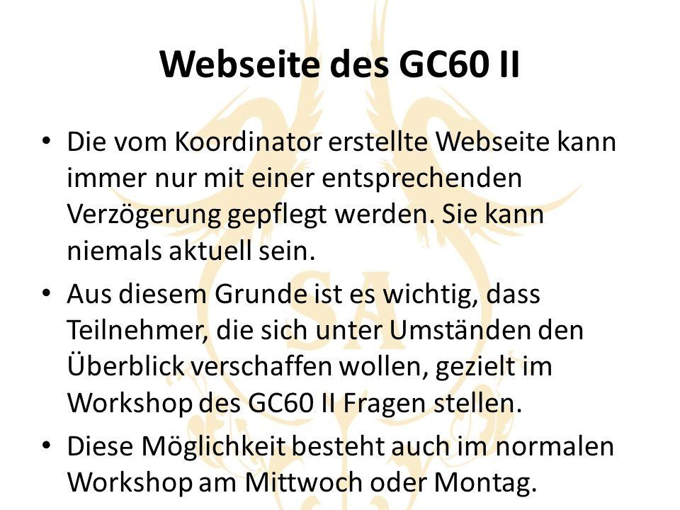 Webseite des GC60 II