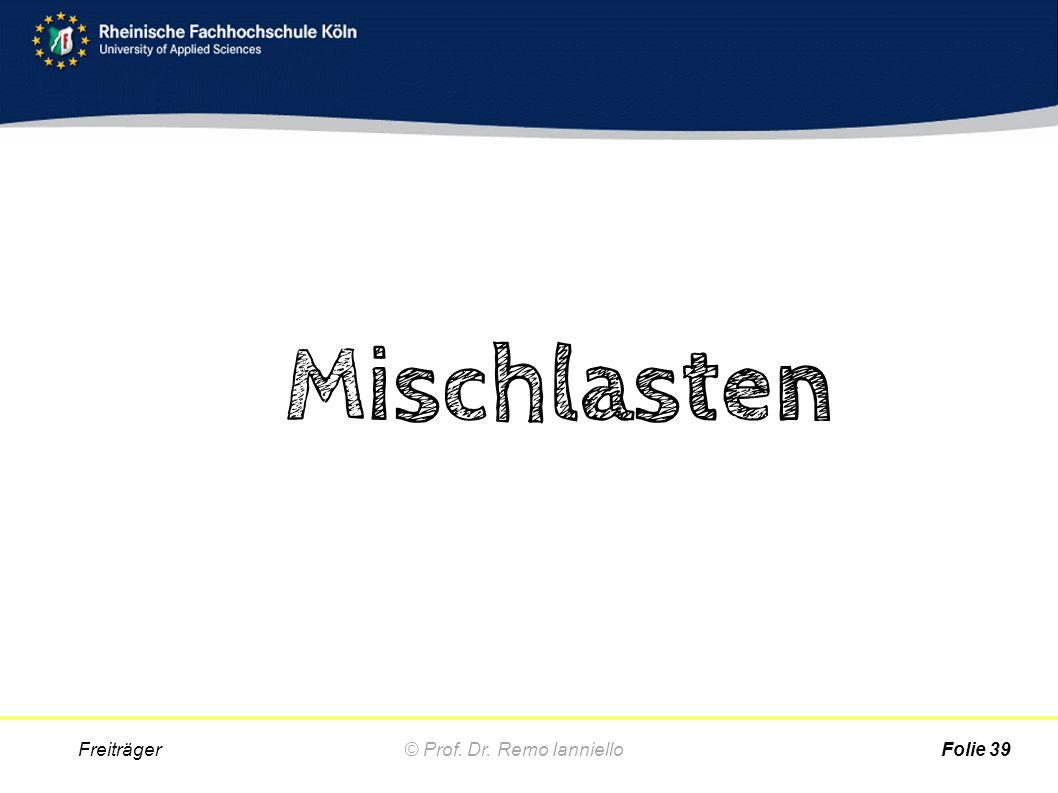 Mischlasten Freiträger © Prof. Dr. Remo Ianniello