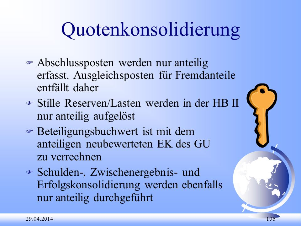 Quotenkonsolidierung