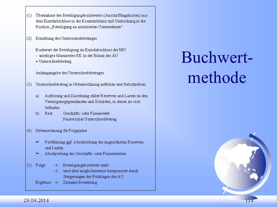 Buchwert-methode 28.03.2017