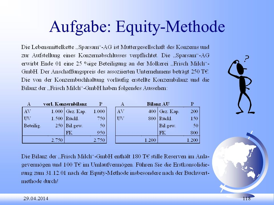 Aufgabe: Equity-Methode