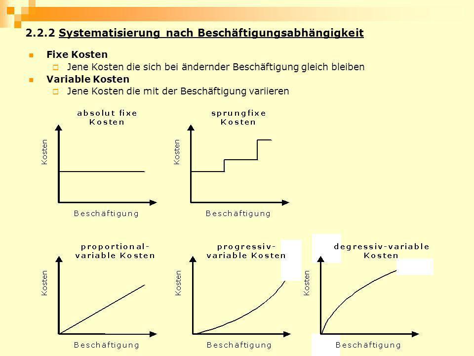 2.2.2 Systematisierung nach Beschäftigungsabhängigkeit