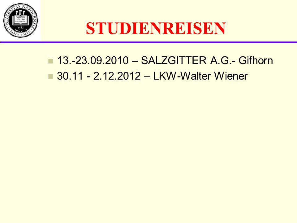 STUDIENREISEN 13.-23.09.2010 – SALZGITTER A.G.- Gifhorn