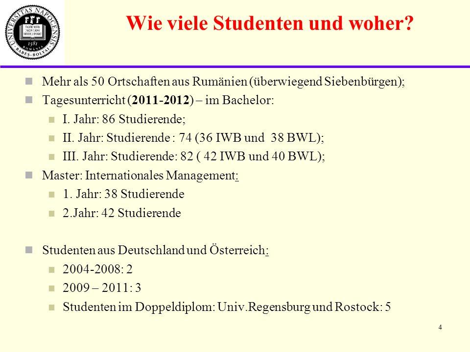 Wie viele Studenten und woher